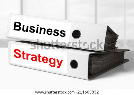 office binders business strategy - stock photo