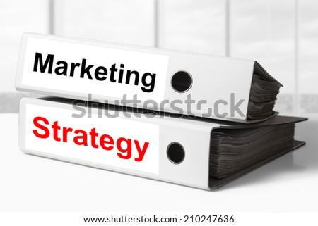 office binders marketing strategy - stock photo