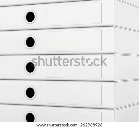 Office blank folder template isolated on white background. 3d render. - stock photo