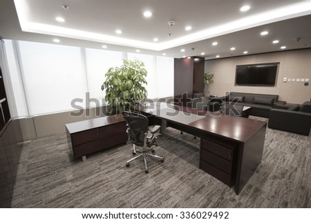 Office, boss, nobody - stock photo