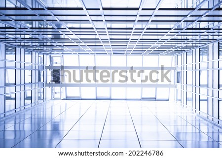 office building ceiling - stock photo