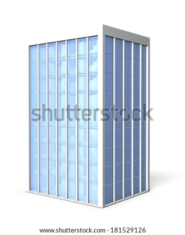 Office building covered with glass - stock photo