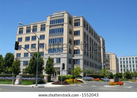 Office building, East Palo Alto, California - stock photo