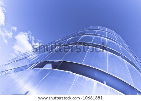 Office building from below, abstract picture.