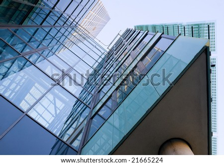 Office building in Kista outside Stockholm. - stock photo