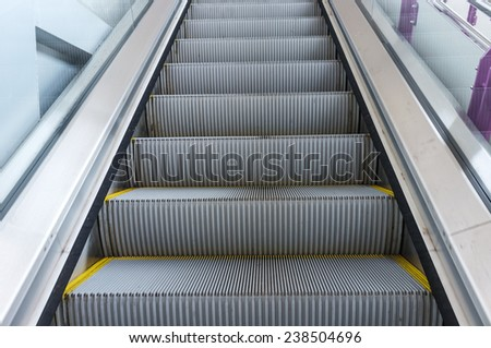 office building modern style escalator
