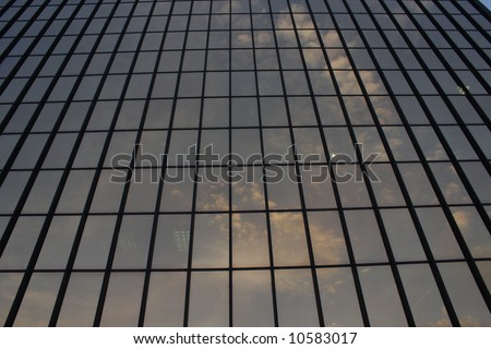 Office building windows in Pittsburgh, PA.  Good for abstract background. - stock photo