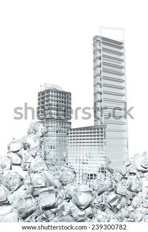 Office buildings.  Abstract concept - stock photo
