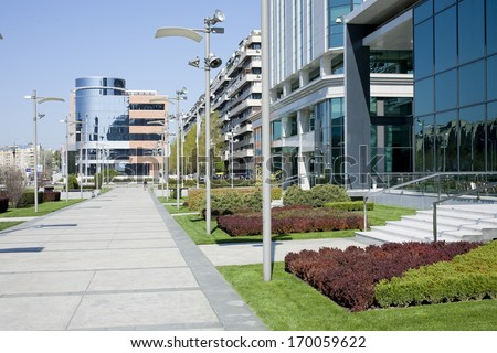 Office buildings exterior - stock photo
