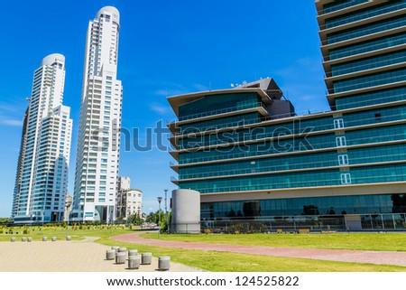 Office Buildings in Rosario Argentina - stock photo