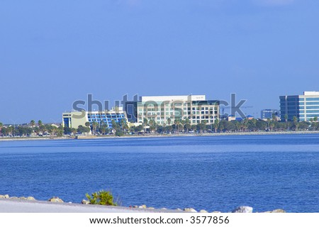 Office buildings on the Tampa skyline