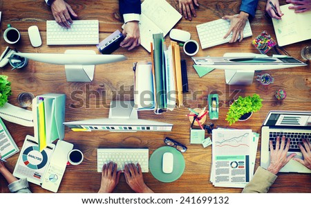Office Business Adminstratation Start Up Conference Meeting Concept - stock photo