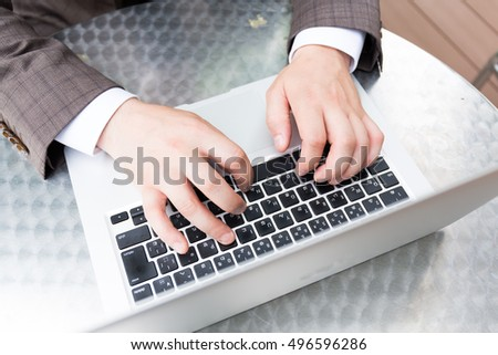 Office Business Worker Keyboarding