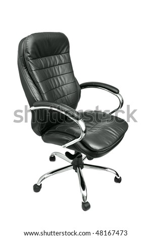 office chair isolated on a white - stock photo