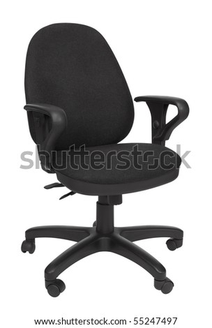 office chair,isolated on white with clipping path - stock photo