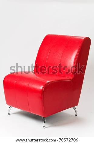 office chair on a white - stock photo