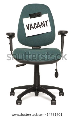 office chair with vacant sign - stock photo