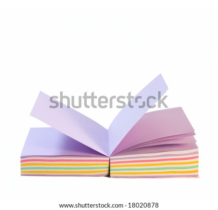 Office Color paper isolated on white