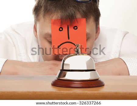 Office Concierge. Service bell at the hotel - stock photo