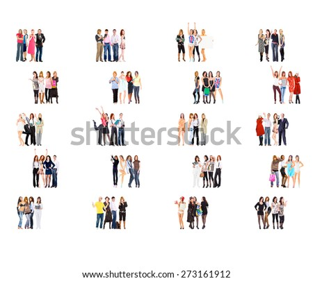 Office Culture Isolated Groups  - stock photo