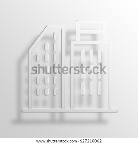 Office 3D Paper Icon Symbol Business Concept