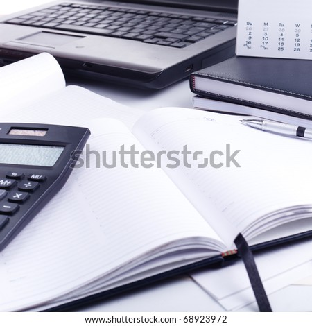 Office desk - stock photo