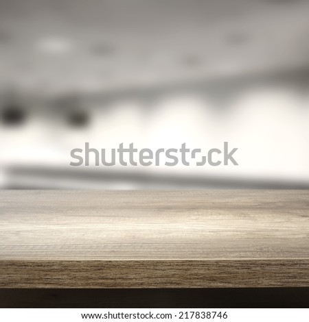 office desk and space for you  - stock photo