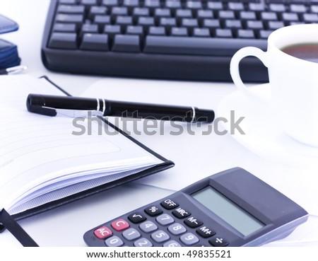 Office desktop - stock photo