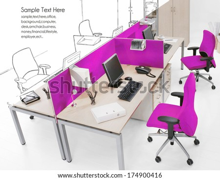 office drawing - stock photo