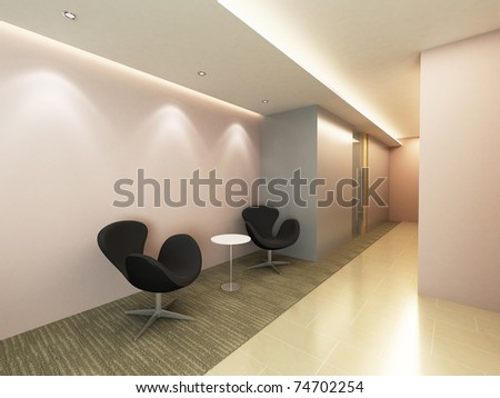 Office Entrance Area - stock photo