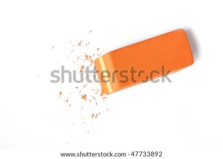 office eraser - stock photo