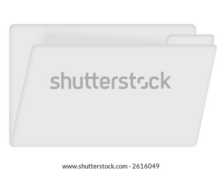 office file folder with tab for title slightly open