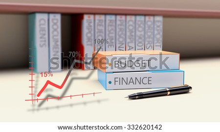 Office folder as theme business budgeting - stock photo