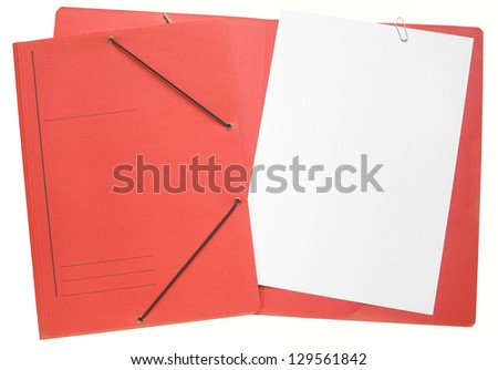 office folder, file folders, manila folders, isolated, free copy space - stock photo