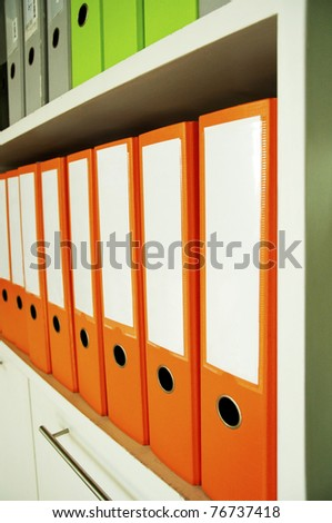Office folder orange - stock photo