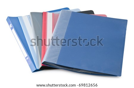 Office folders isolated on a white background - stock photo