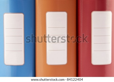 Office folders isolated on the white background - stock photo