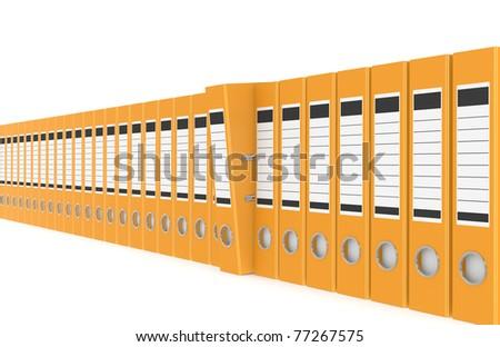 Office folders. Office folders in a row - stock photo