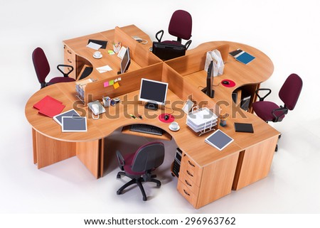 Office furniture - stock photo