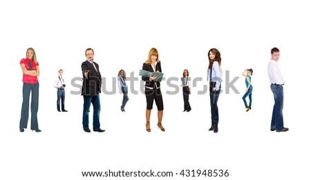 Office Idea Team over White  - stock photo