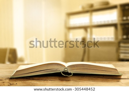 office interior and book