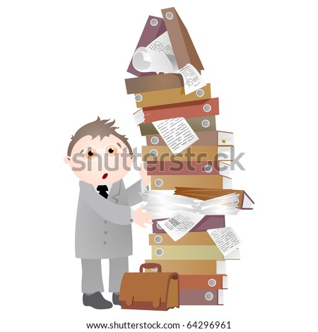Office life. Folders. - stock photo