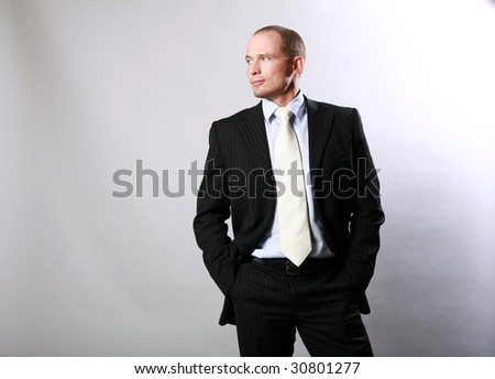 Office manager in a suit - stock photo