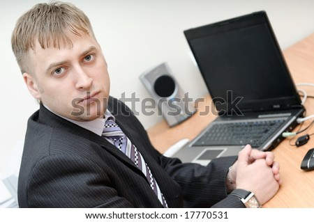 office manager sitting at the workplace
