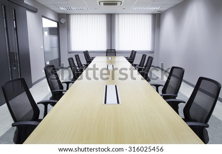 Office Meeting room  and conference table  - stock photo
