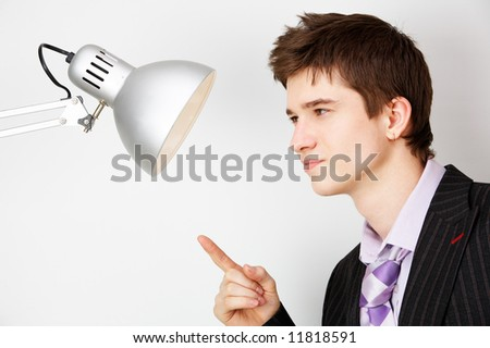 office opposition. concept image - stock photo