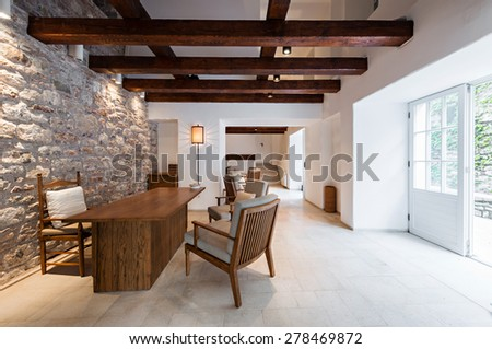 office or reception in a luxury hotel - stock photo