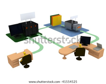 Office organization computer server storage workflow stock office organization computer server storage workflow and structure diagram illustration ccuart Gallery