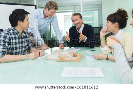 Office people in meeting