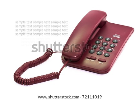 Office phone or home phone use to communicate with people who live away from us. - stock photo
